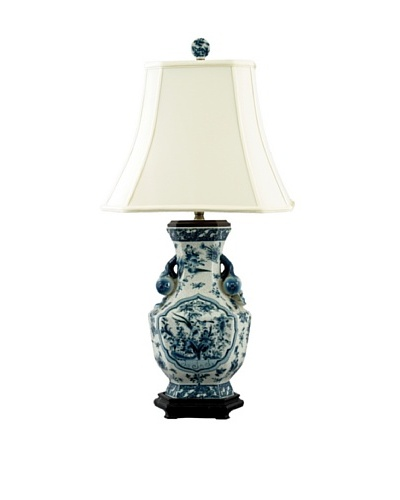 Oriental Danny Bird Hex Vase Table Lamp