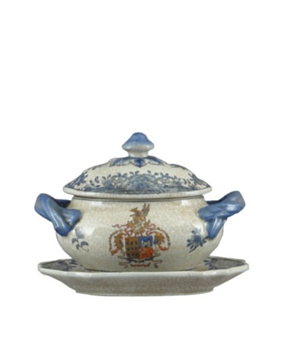 Oriental Danny Flower Tureen with Saucer
