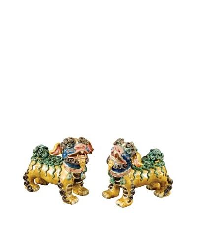 Oriental Danny Pair of Ceramic Foo Dogs