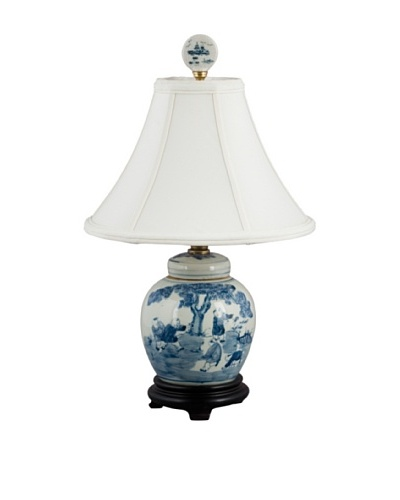Oriental Danny Blue and White Table Lamp