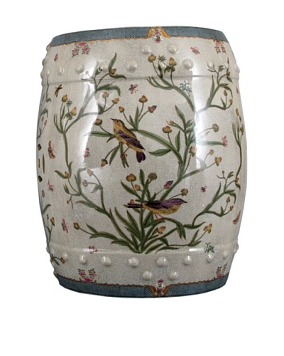 Oriental Danny Floral Stool