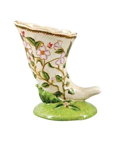 Oriental Danny Graslin Porcelain Horn Vase