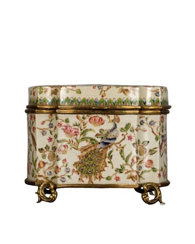 Oriental Danny Peacock Porcelain Box
