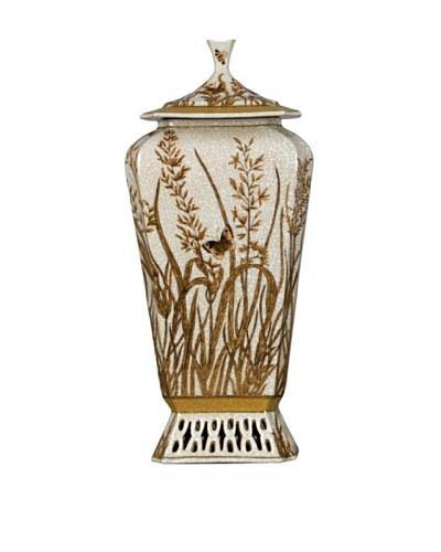 Oriental Danny Jar with Lid, Gold Dusk