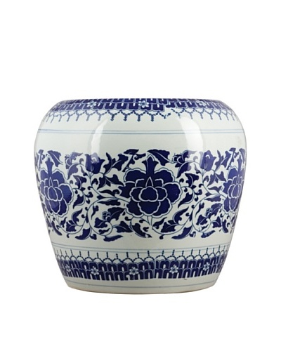 Oriental Danny Blue and White Stool