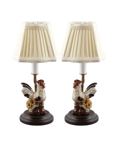 Oriental Danny Set of 2 Rooster Table Lamps