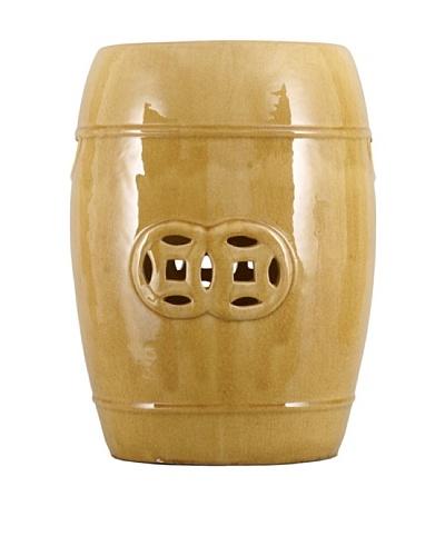 Oriental Danny Ceramic Garden Seat, Yellow
