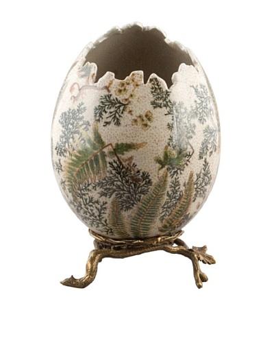 Oriental Danny Moss Fern Egg Sculpture