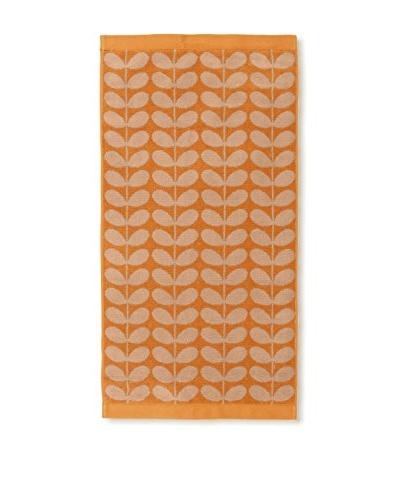 Orla Kiely Stem Jacquard Hand Towel, Tea Rose/Orange