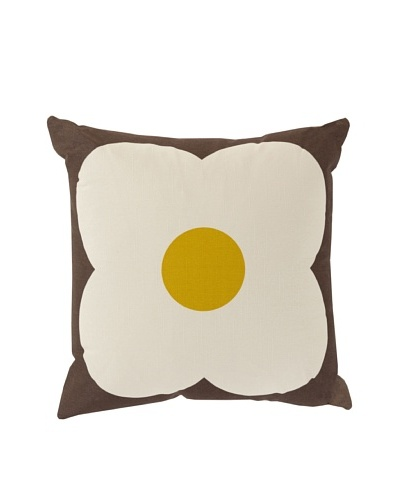 Orla Kiely Chocolate & Sunflower Pillow