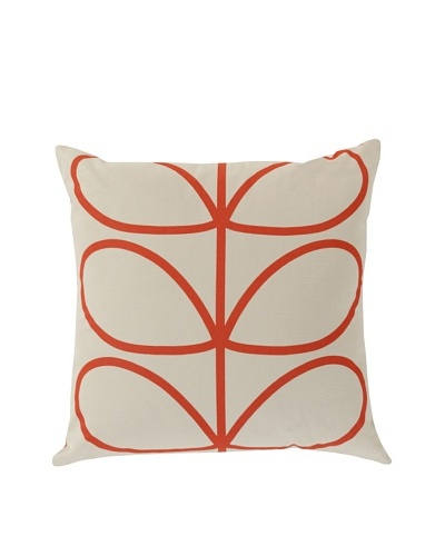 Orla Kiely Red Down Pillow