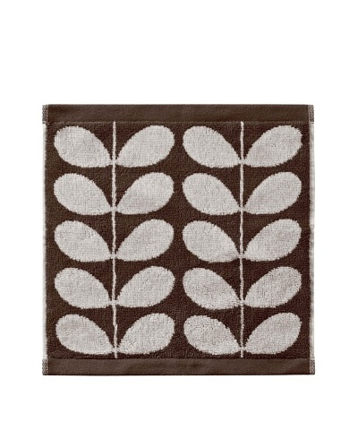 Orla Kiely Stem Jacquard Wash Cloth, Nutmeg