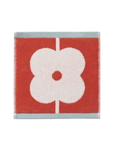 Orla Kiely Flower Abacus Wash Cloth, Tomato