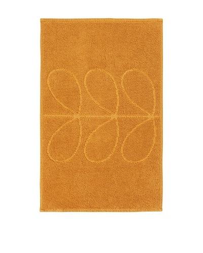 Orla Kiely Stem Jacquard Bathmat, Orange