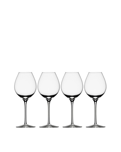 Orrefors Set of 4 Difference Fruit Wine Glasses