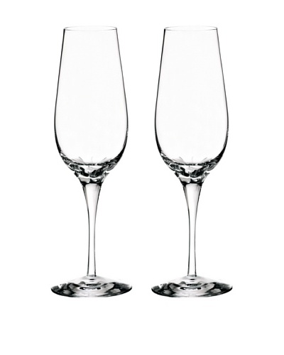 Orrefors Pair of Astra Flutes