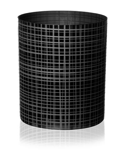 Orrefors Slowfox Checked Vase, Black