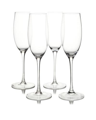 Ravenscroft Crystal Set of 4 Invisibles Collection Vintage Cuvee Champagne Glasses, 10-Oz.