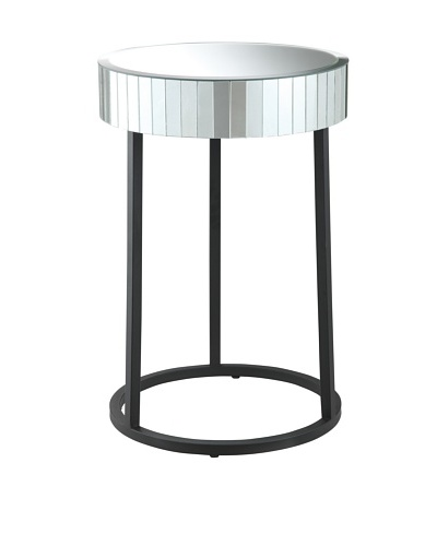 Osp Designs Krystal Collection Accent Table, Glass/Mirror