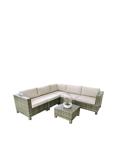 Outdoor Pacific by Kannoa 6-Piece Sectional Set, Coconut
