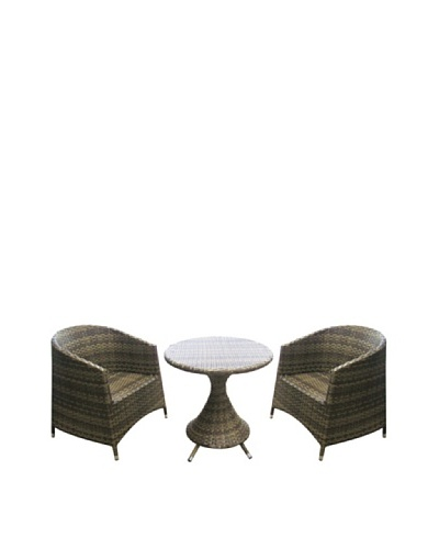 Outdoor Pacific by Kannoa Armchair & Table Set, Coconut
