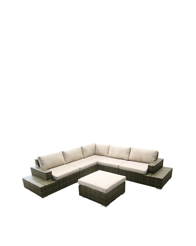 Outdoor Pacific by Kannoa L-Shaped Sectional Set, Coconut