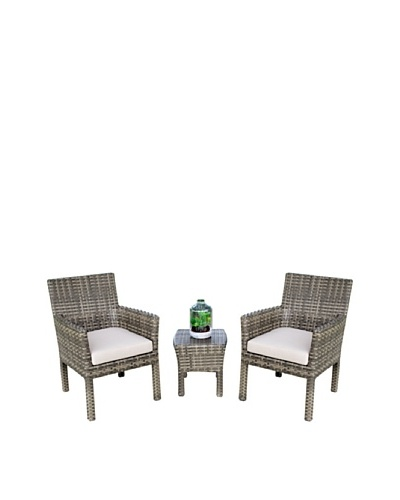 Outdoor Pacific by Kannoa Small-Scale Arm Chair Set, Coconut