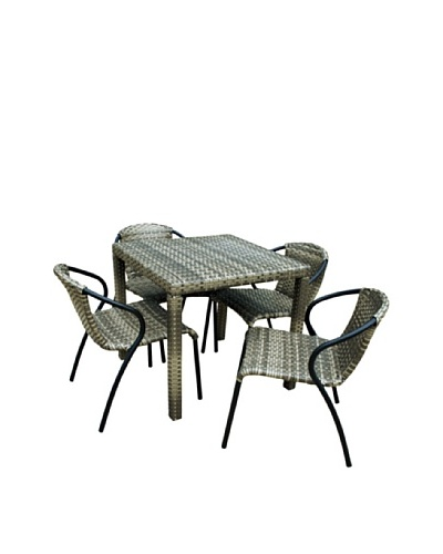Outdoor Pacific by Kannoa 4-Chair Dining Set, Coconut