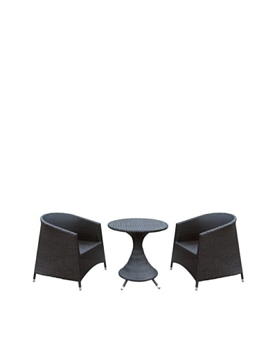 Outdoor Pacific by Kannoa Armchair & Table Set, Dark Coffee