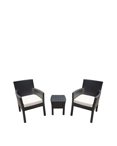 Outdoor Pacific by Kannoa Small-Scale Arm Chair Set, Dark CoffeeAs You See