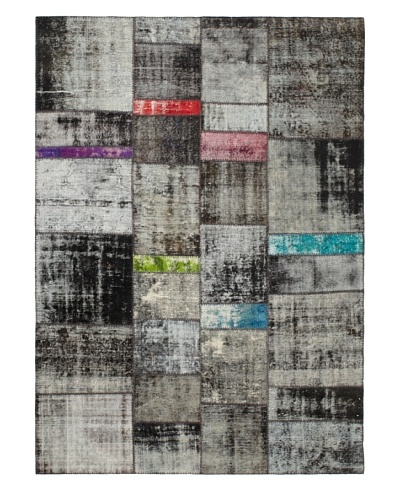 One Of A Kind Overdyed Rug, Grey Multi, 7' x 9' 9