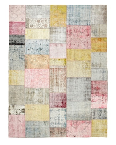 One Of A Kind Overdyed Rug, Pastel Multi, 8' 2 x 12 1
