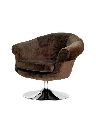 Overman International Disc Base Twist Chair, Brown