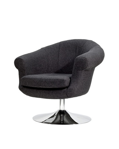 Overman International Disc Base Twist Chair, Black