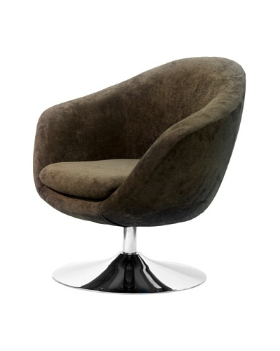 Overman International Disc Base Comet Chair, Brown
