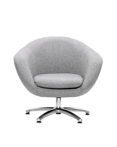 Overman International Five Prong Base Comet Chair, Light Grey