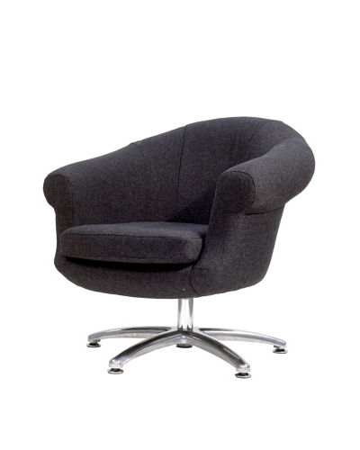 Overman International Five Prong Twist Chair, Black