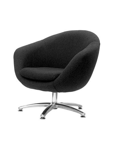 Overman International Five Prong Base Comet Chair, Black