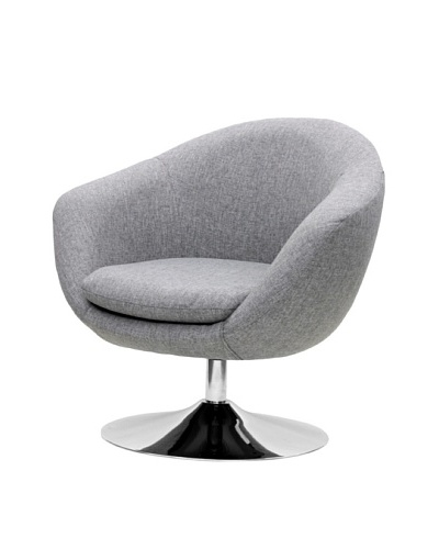 Overman International Disc Base Comet Chair, Light Grey