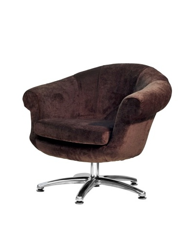 Overman International Five Prong Twist Chair, Brown