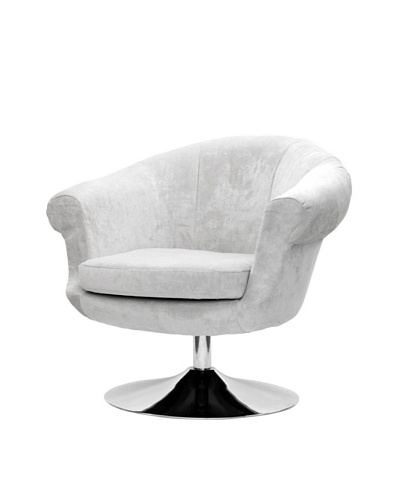 Overman International Disc Base Twist Chair, Light Tan