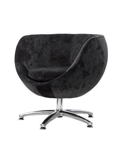 Overman International Five Prong Base Globus Chair, Dark Grey