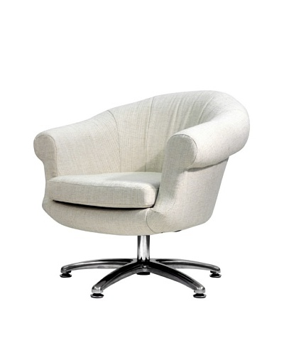 Overman International Five Prong Twist Chair, Oatmeal