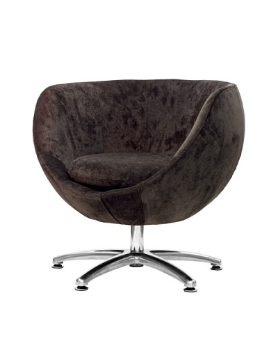 Overman International Five Prong Base Globus Chair, Brown
