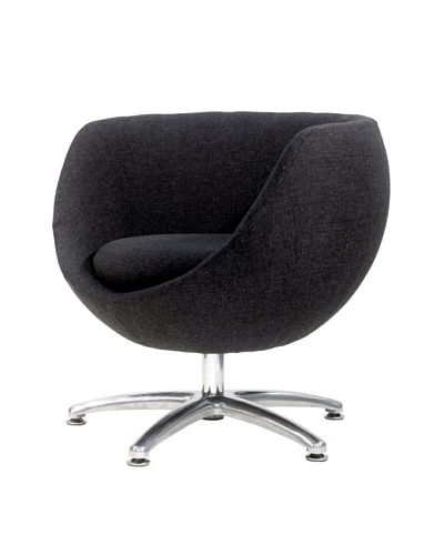 Overman International Five Prong Base Globus Chair, Black
