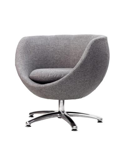 Overman International Five Prong Base Globus Chair, Light Grey