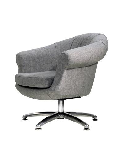 Overman International Five Prong Twist Chair, Light Grey
