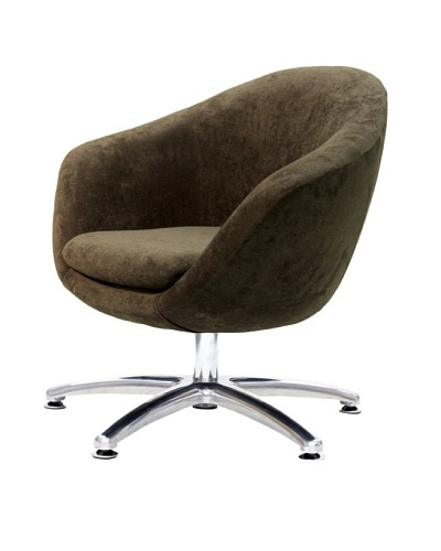 Overman International Five Prong Base Comet Chair, Brown