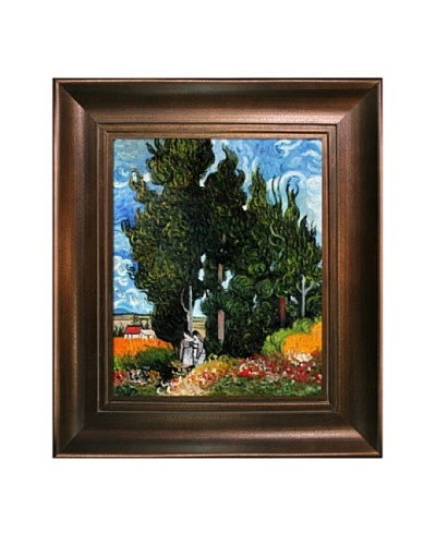 Vincent Van Gogh The Cypresses Framed Oil Painting