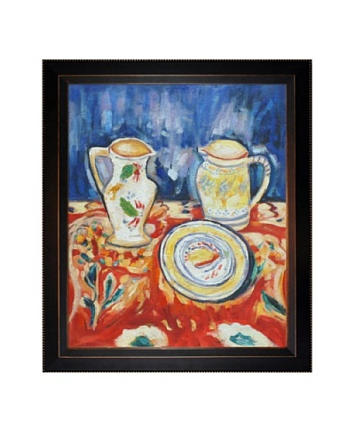Oil Reproduction of Alfred Maurer's Still Life with Breton Pottery, 1910